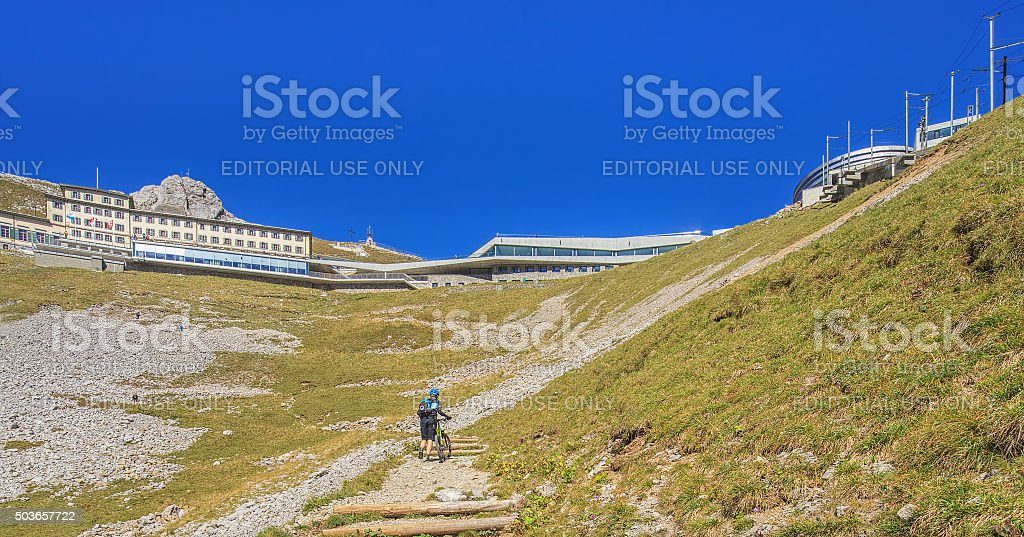 View on the top of Mt. Pilatus stock photo