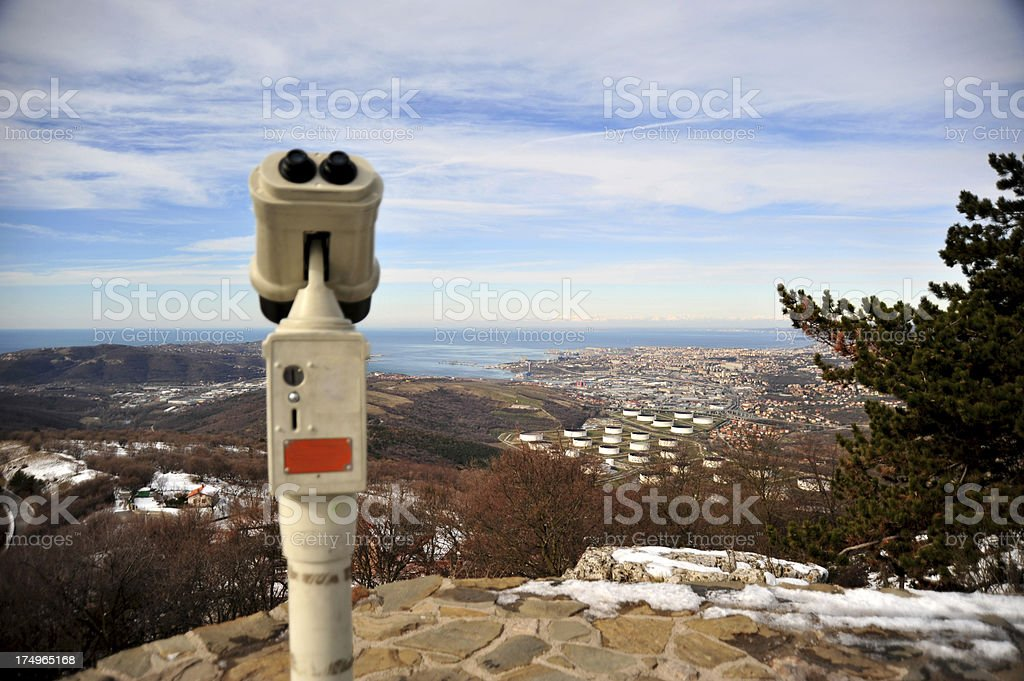 View on the Trieste gulf royalty-free stock photo