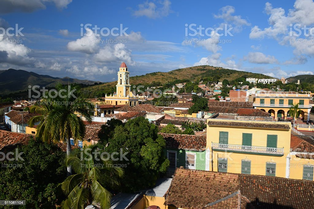 View on the Trinidad city stock photo