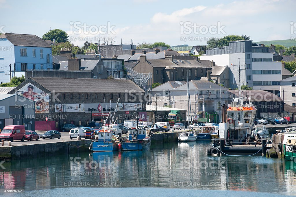 View on the Wicklow harbour stock photo