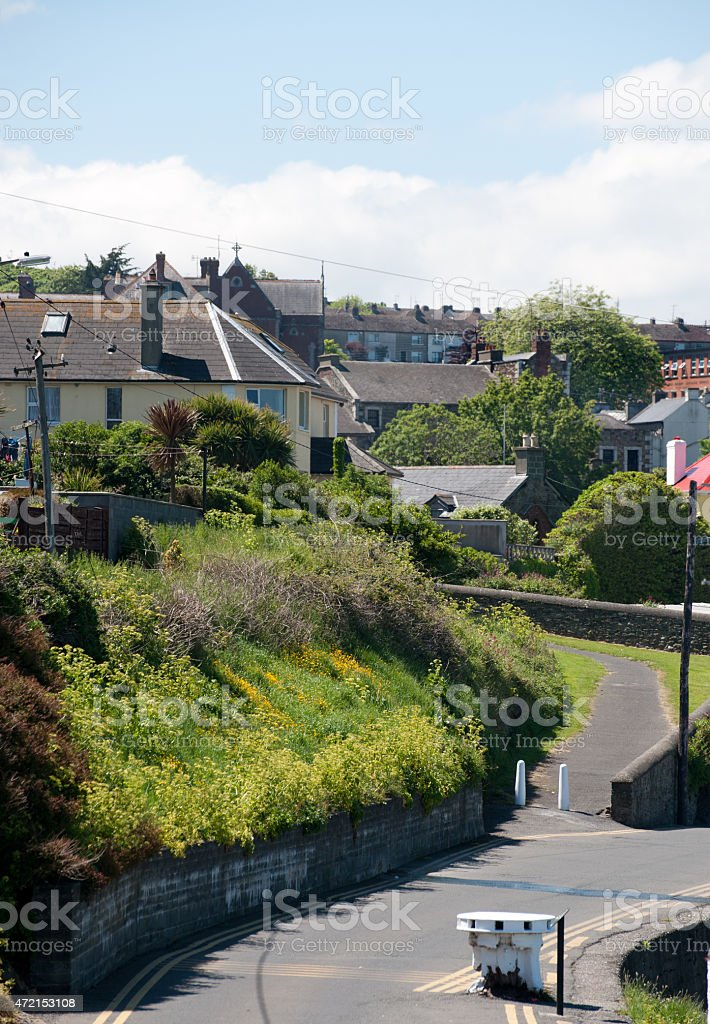 View on the Wicklow village stock photo