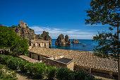 View on Tonnara at Scopello, Sicily, Italy