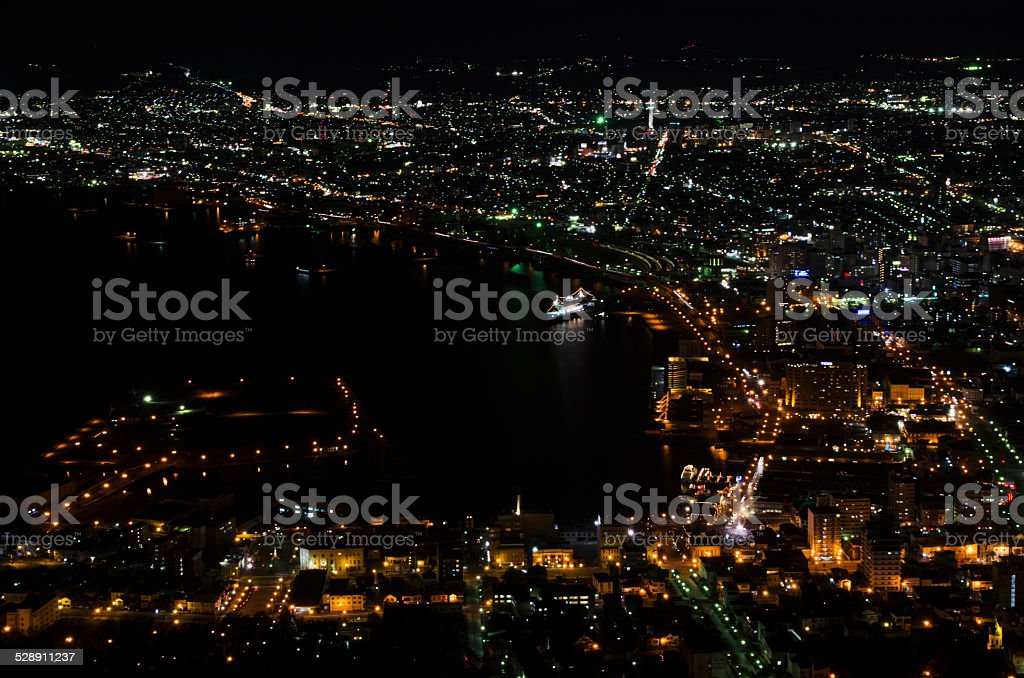 View on top in Hakodate stock photo
