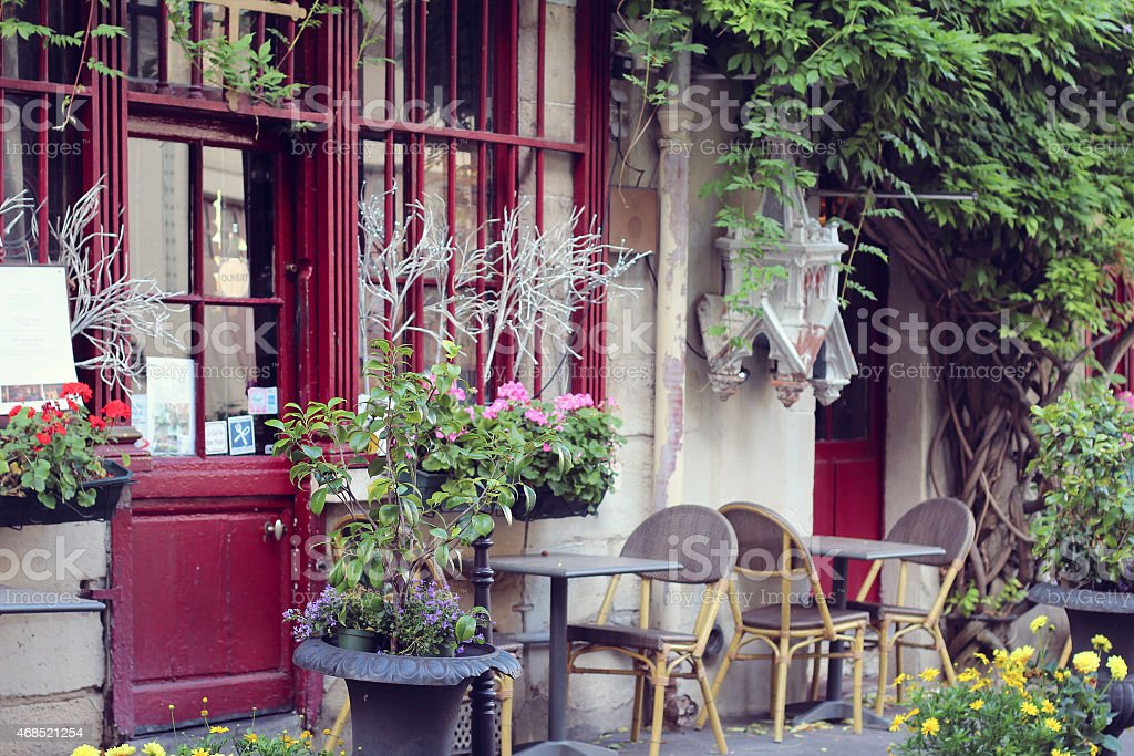 View on traditional parisian buildings in Paris, France stock photo