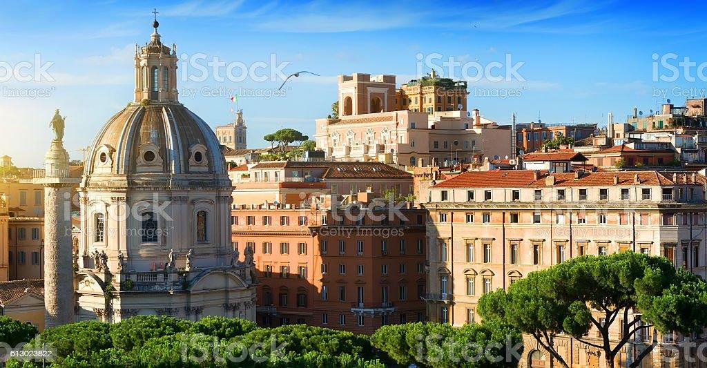 View on Trajan Forum stock photo