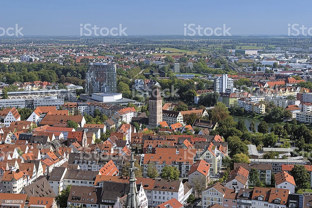 View on Ulm, Germany royalty-free stock photo