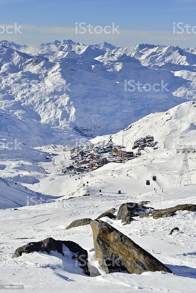 View on Val Thorens stock photo