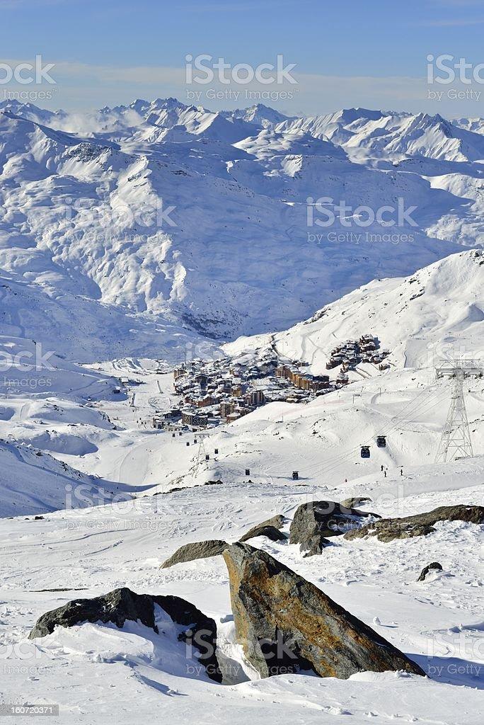 View on Val Thorens stock photo