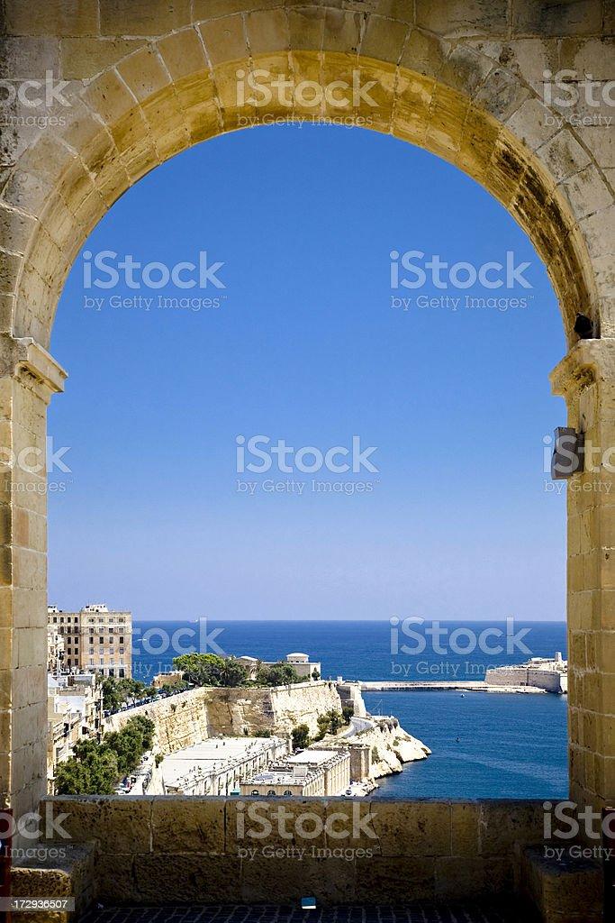 View on Valetta stock photo