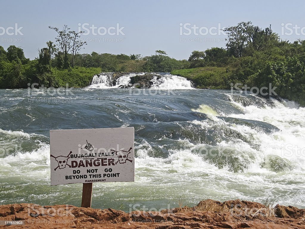 View on Victoria Nile River rapids royalty-free stock photo