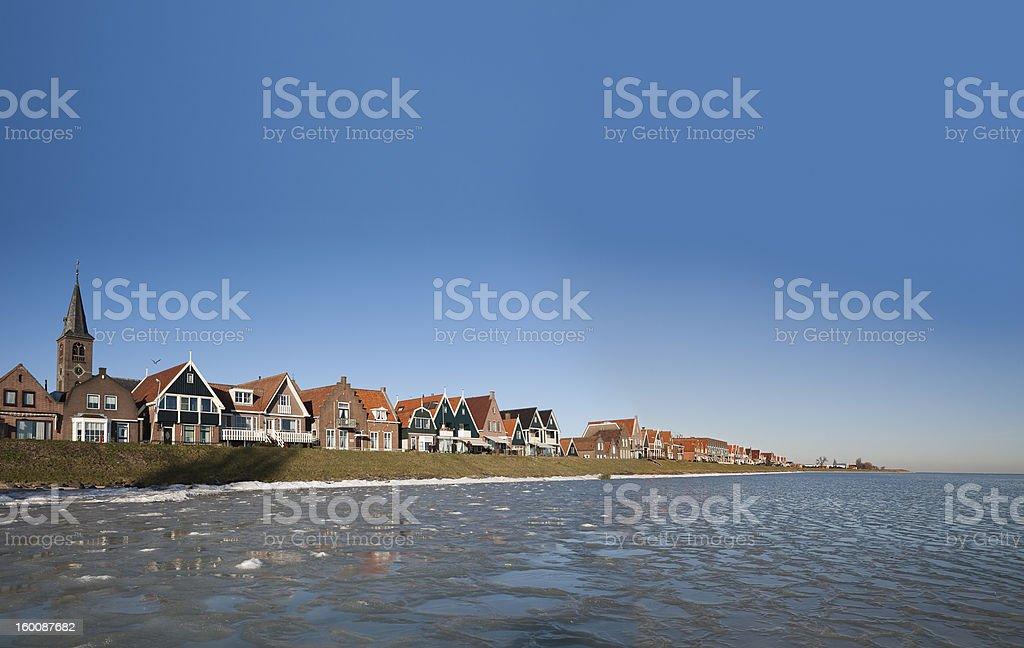 View on Volendam IV, Netherlands stock photo
