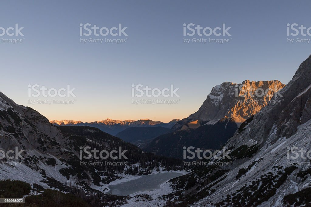 view on Zugspitze stock photo