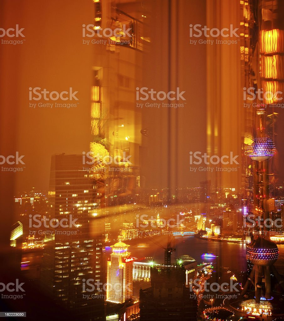 View out the window - Shanghai royalty-free stock photo