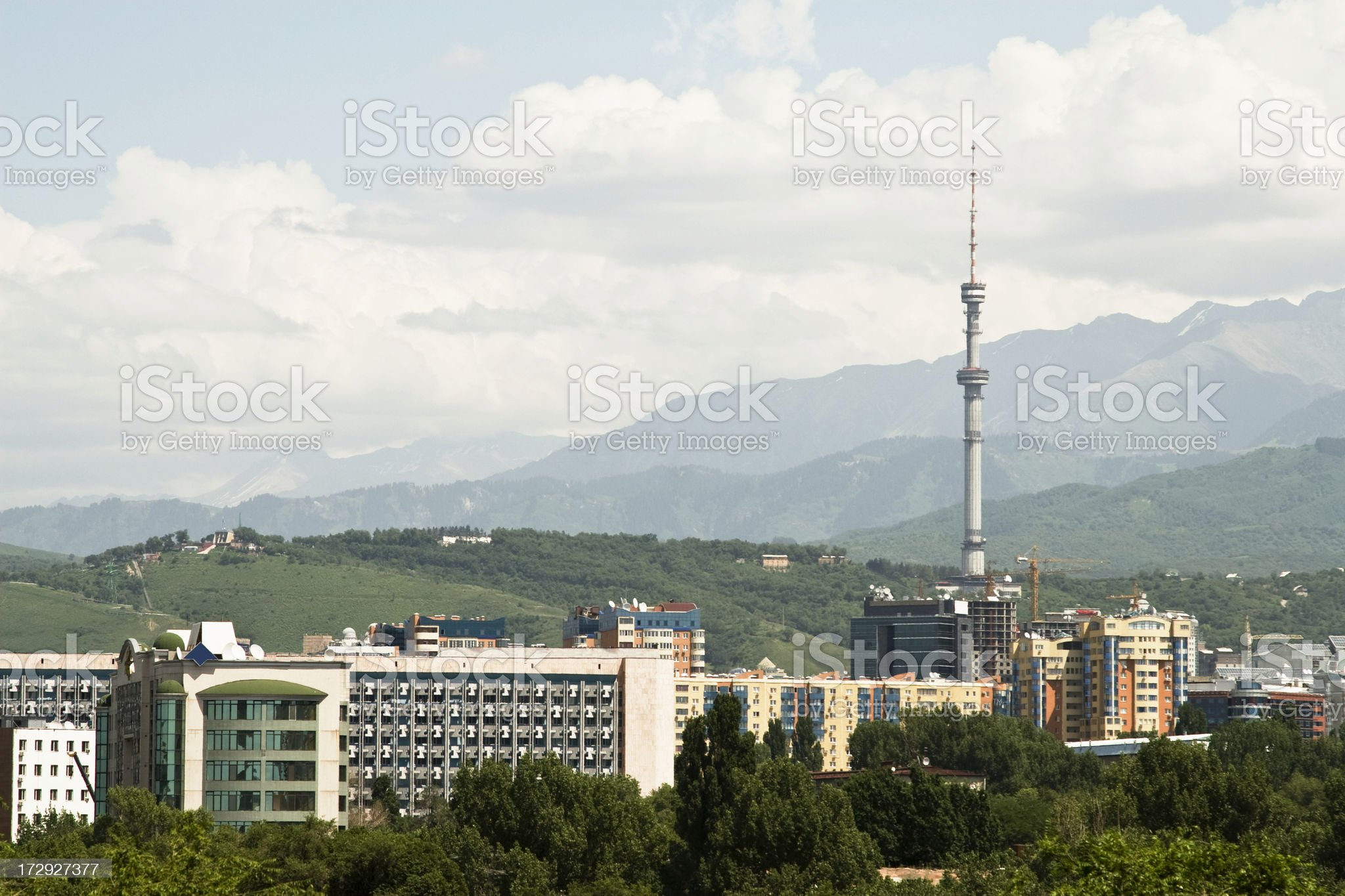 View over Almaty royalty-free stock photo