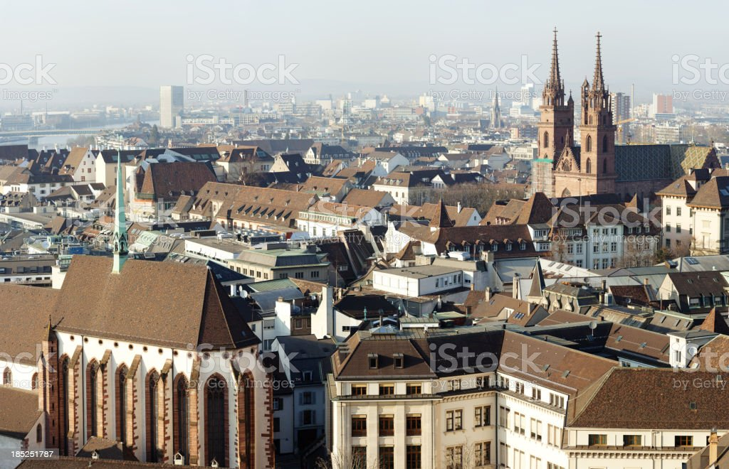 View over Basel stock photo