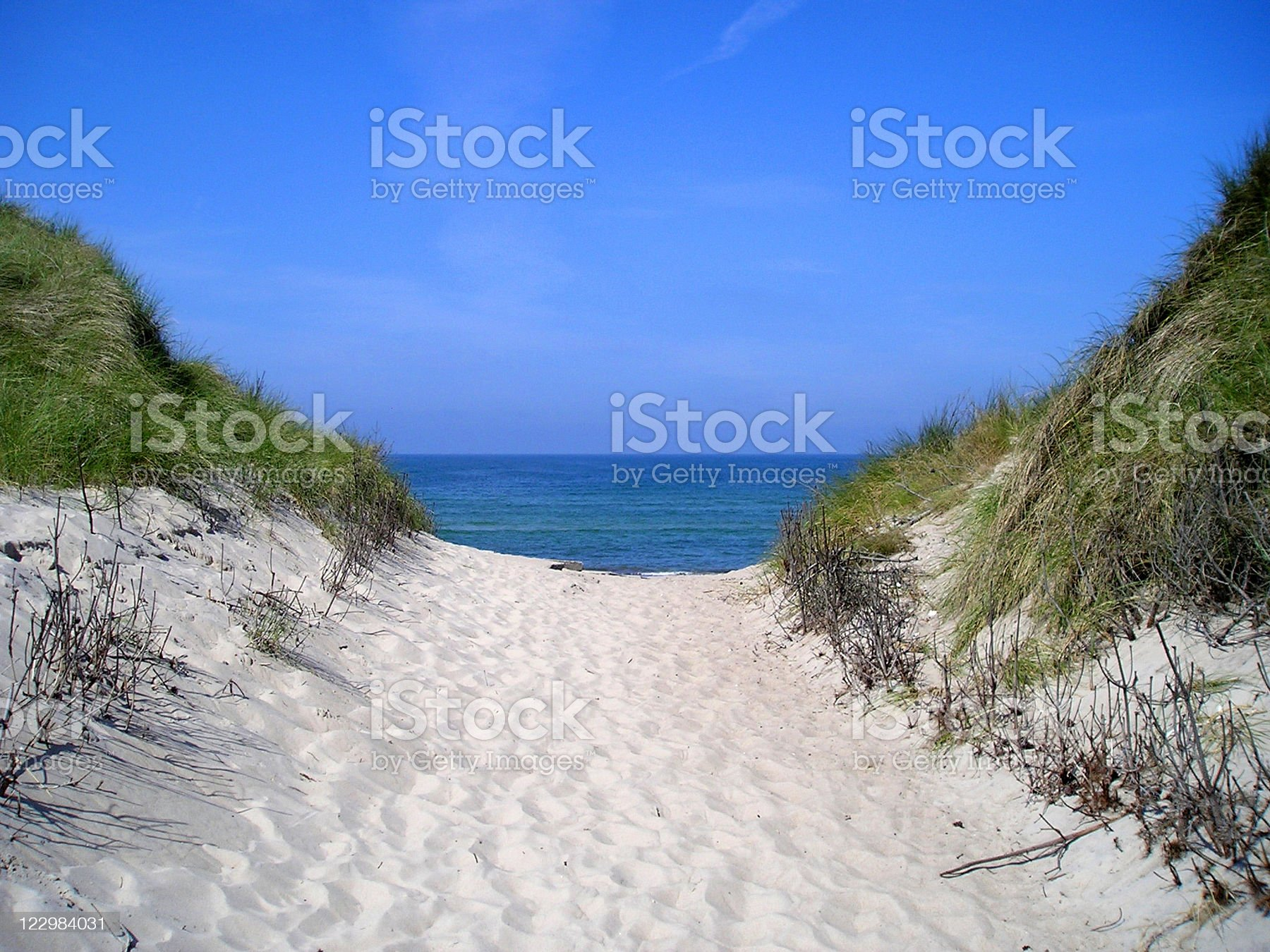 View over beach royalty-free stock photo
