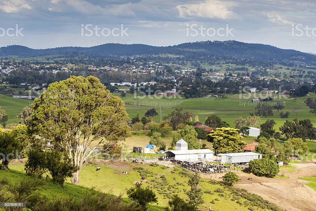 View over Bega stock photo