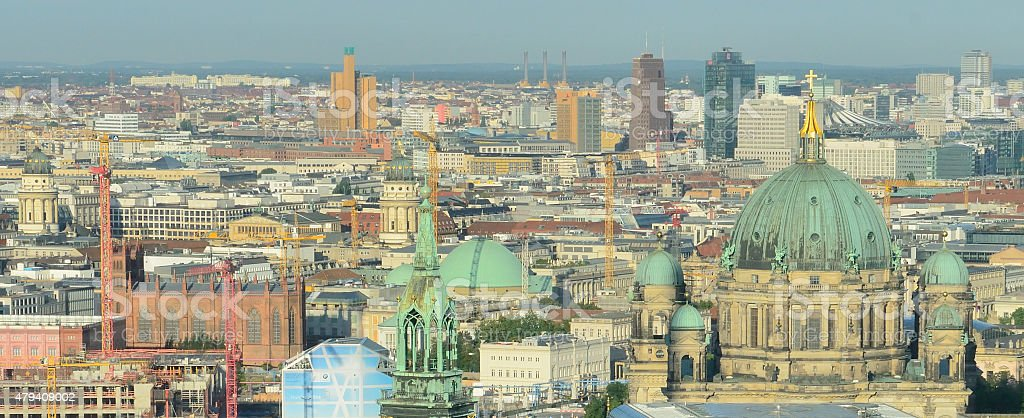 View over Berlin stock photo