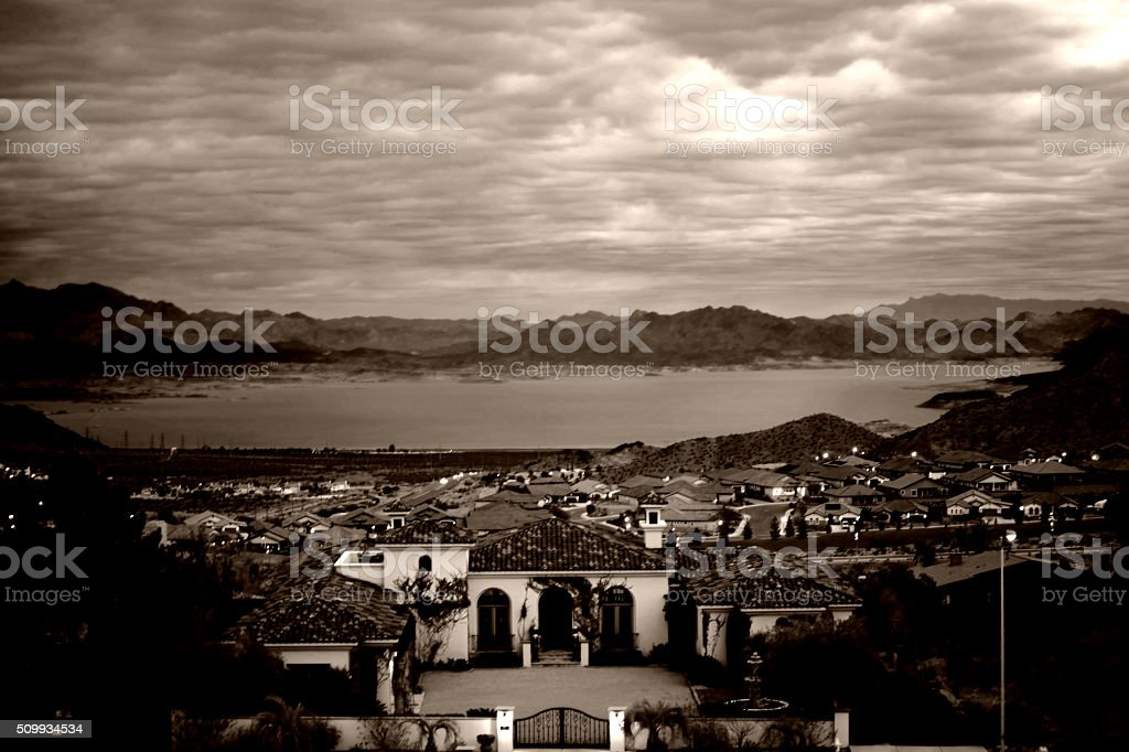View over Boulder City stock photo