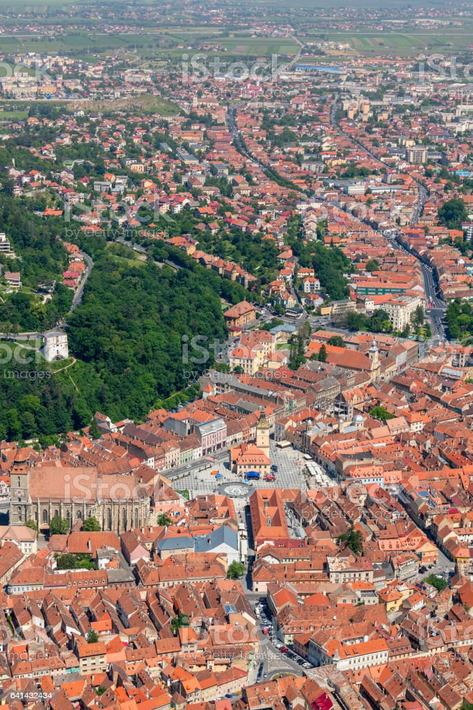 View over Brasov, Romania stock photo
