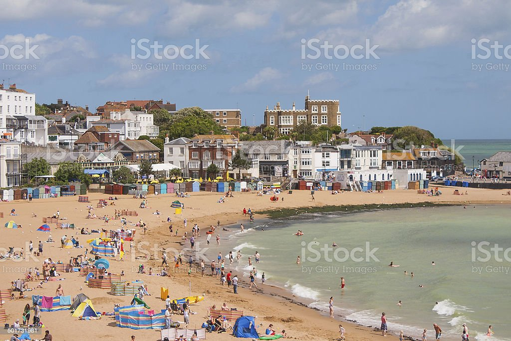 View over Broadstairs stock photo