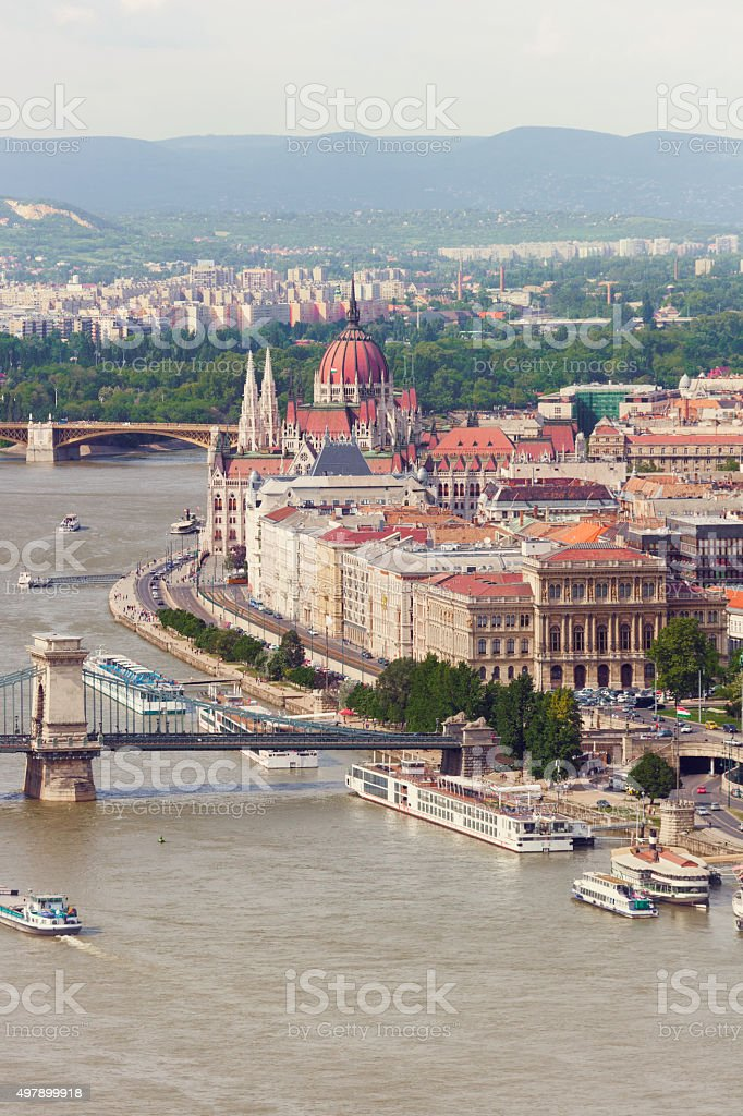 View over Budapest, Hungary stock photo