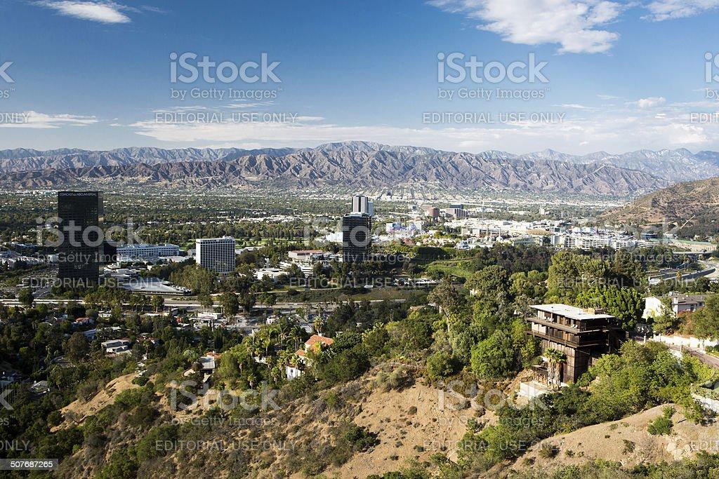 View over Burbank stock photo