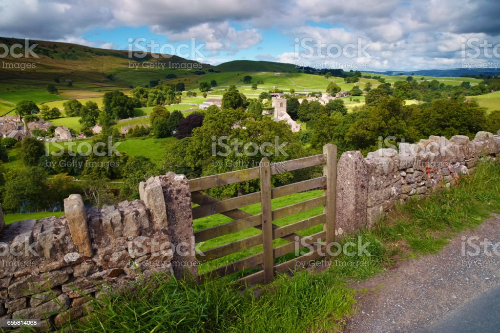 View Over Burnsall In The Yorkshire Dales stock photo