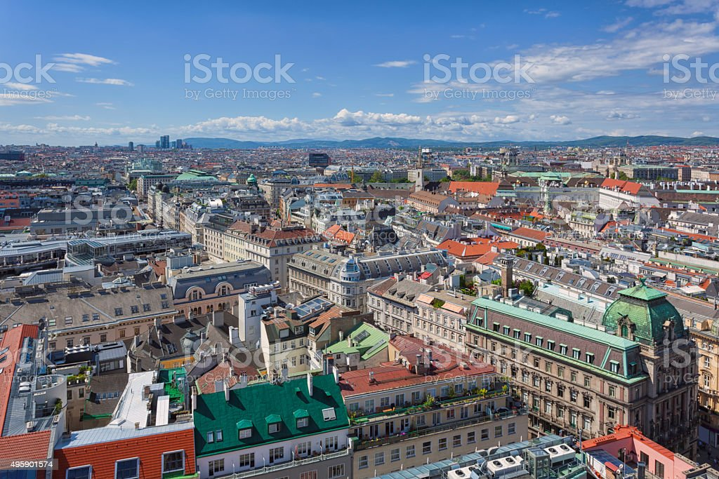 View over central Vienna stock photo