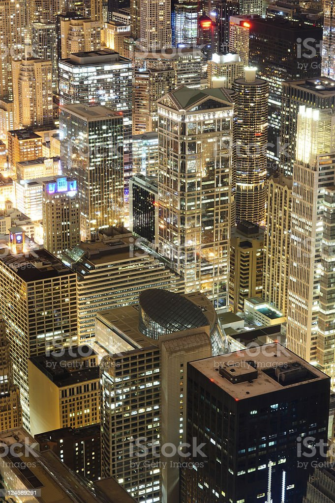 view over Chicago city royalty-free stock photo