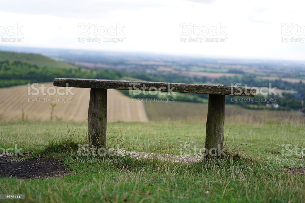 View over Chilterns stock photo