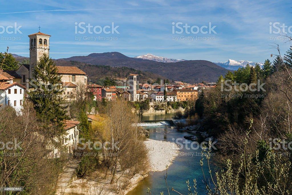 View over Cividale del Friuli stock photo
