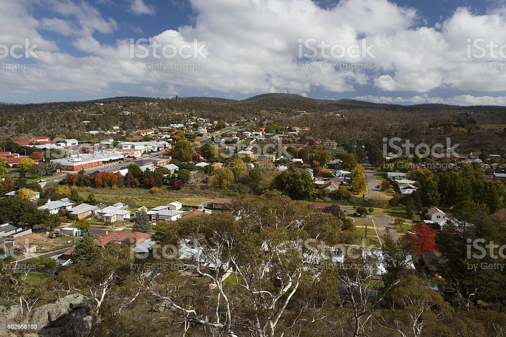 View over Cooma stock photo