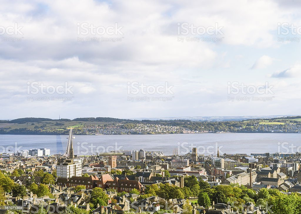 View Over Dundee in Scotland stock photo