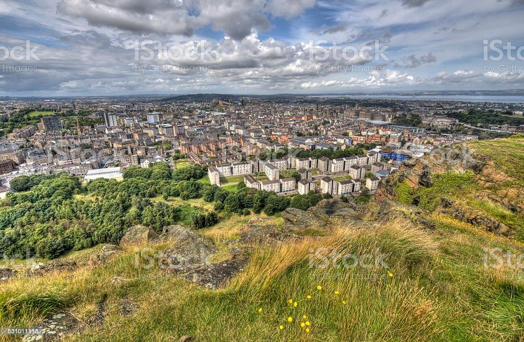 View over Edinburgh stock photo