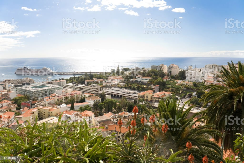 View over Funchal, Madeira stock photo