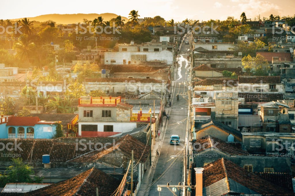 view over Gibara city in Holguin province in Cuba stock photo