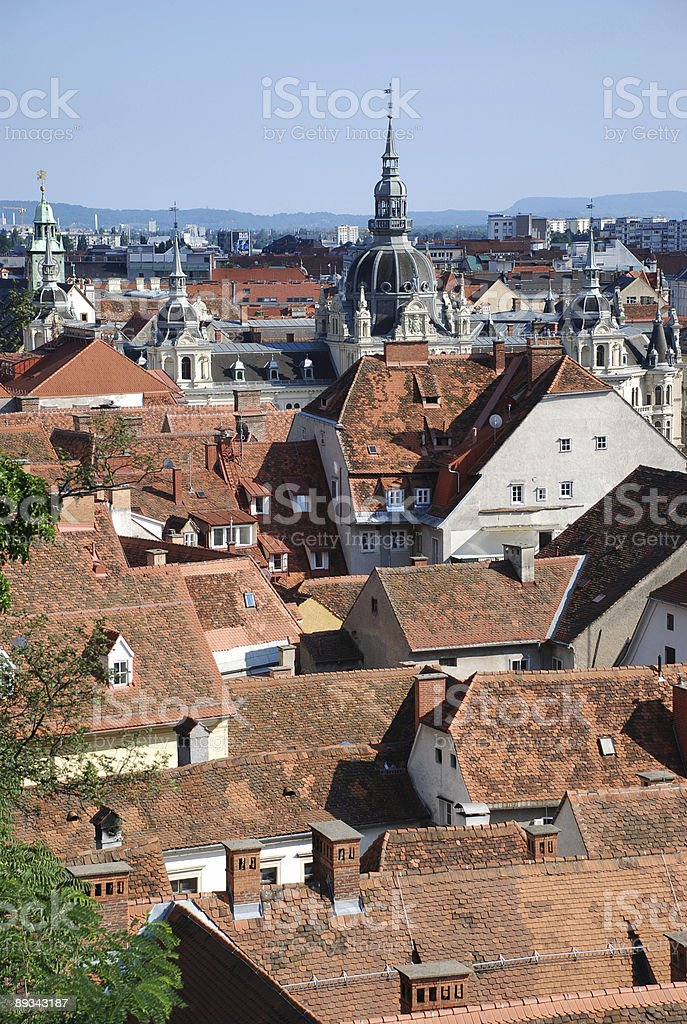 View over Graz royalty-free stock photo