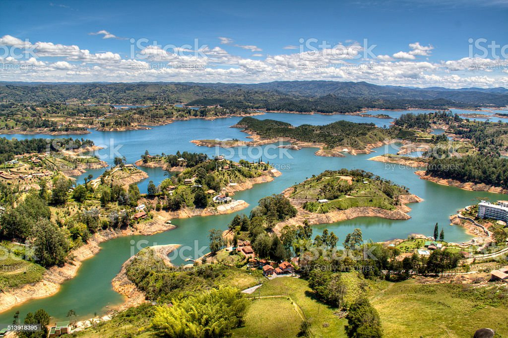 View over Guatape stock photo
