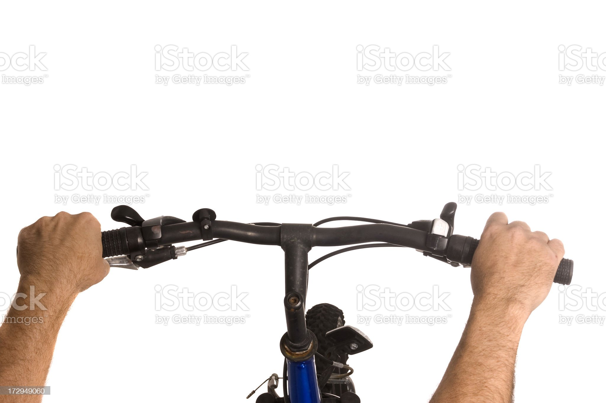View Over Handle Bars royalty-free stock photo