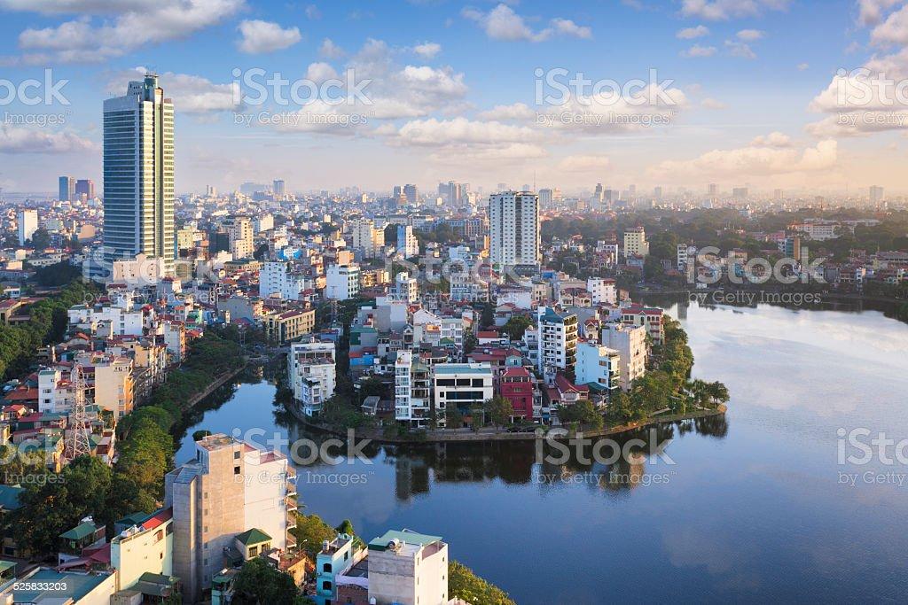 View over Hanoi, Vietnam stock photo