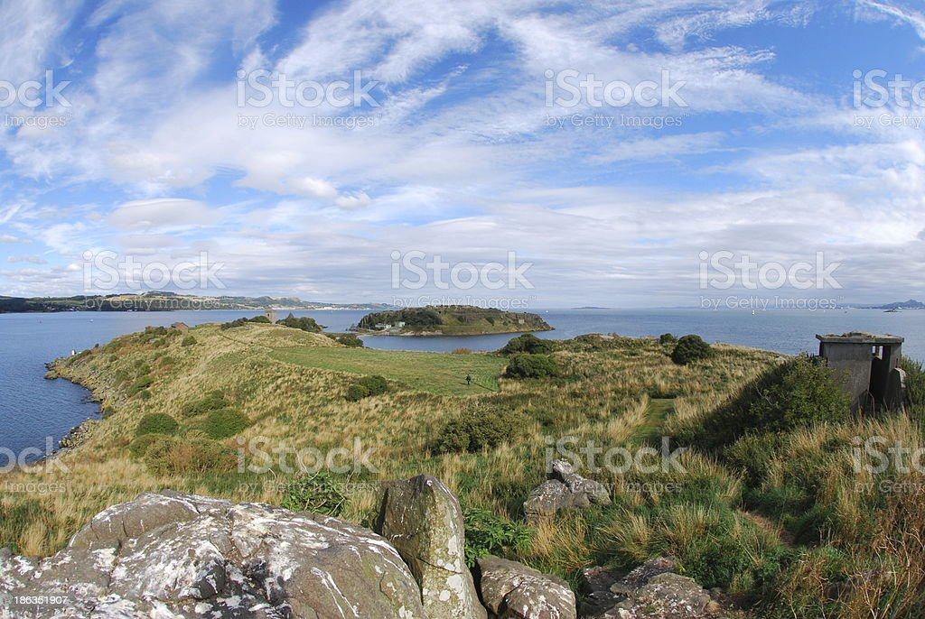 View Over Inchcolm stock photo