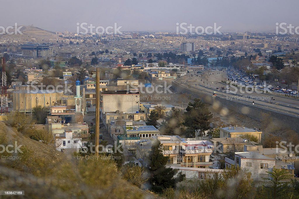 View over Kabul stock photo