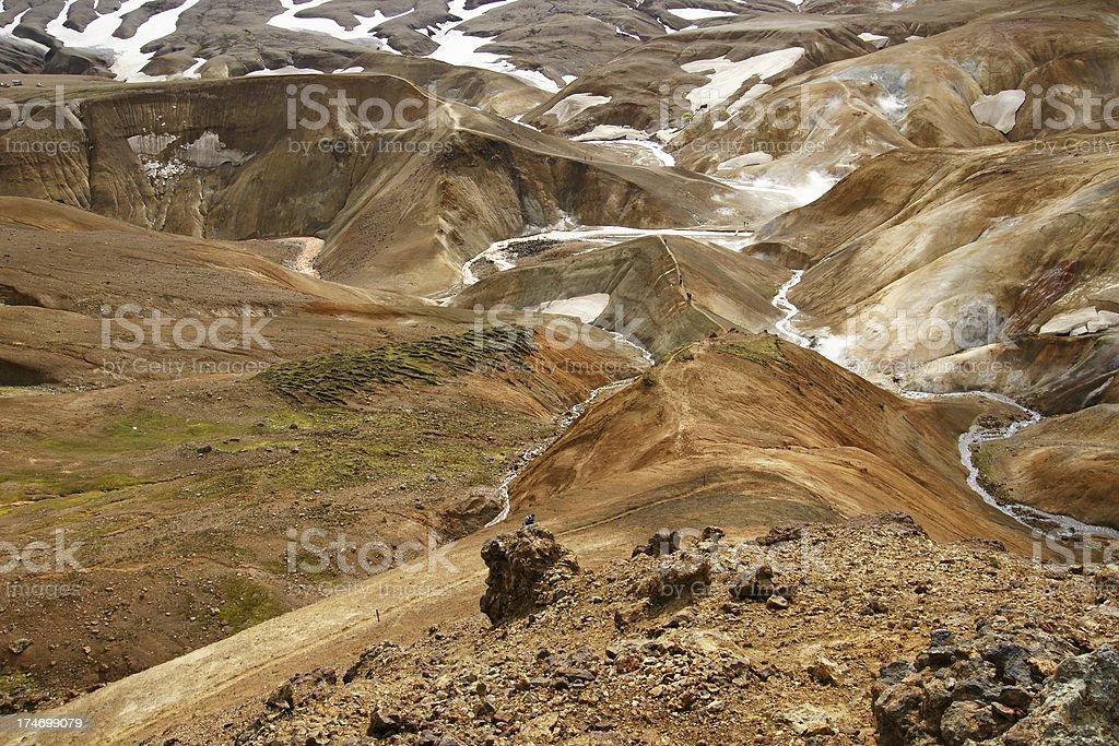 View over Kerlingarfjoll, Iceland stock photo