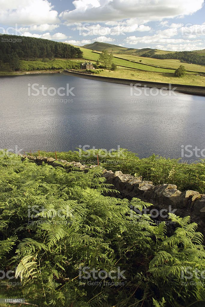 View over Kinder Reservior royalty-free stock photo