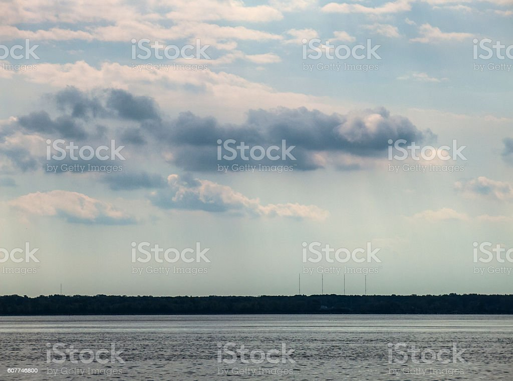 View over lac St-Louis stock photo