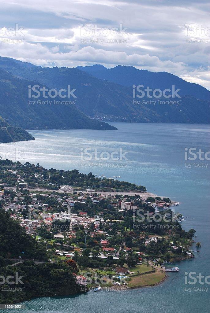View over Lake Atitlan, Guatemala stock photo