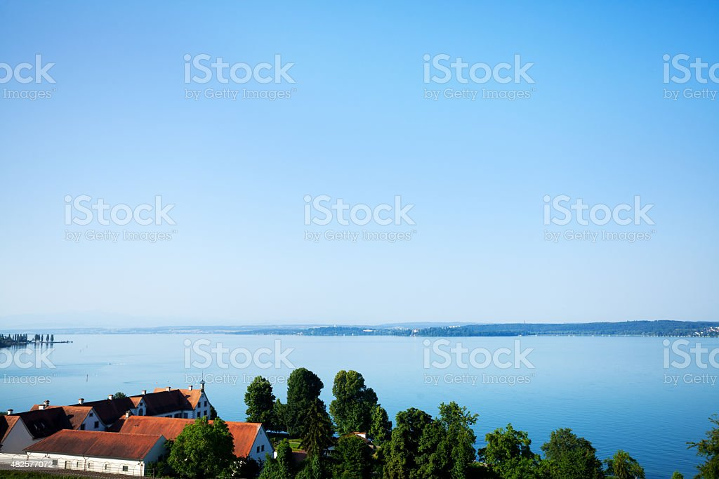 View over lake Bodensee to east stock photo