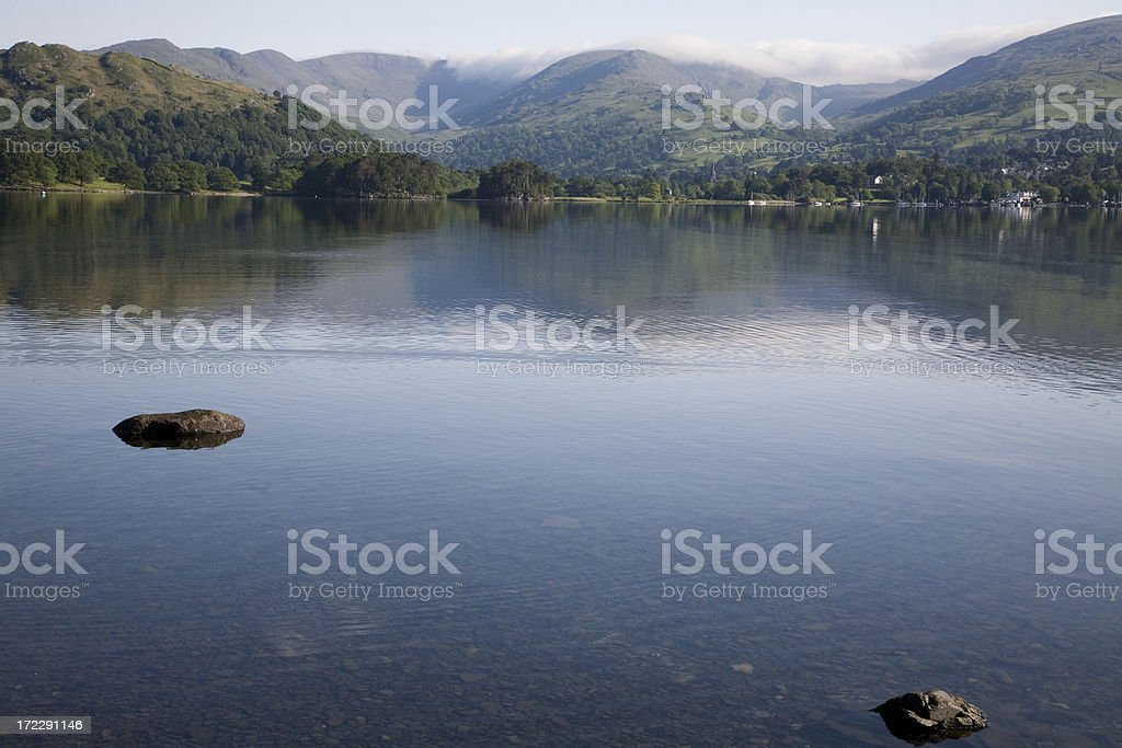 View over lake Windermere royalty-free stock photo