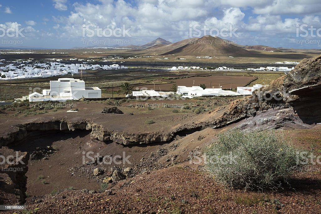 View over Lanzarote near Tahiche royalty-free stock photo